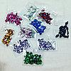 Стразы  лот-ассорти 10 видов цветов по 20 шт каждого