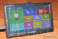 GPS-навигатор Hyundai 707, 7 дюймов, ОЗУ 128 Мб, память 4 Гб, карты, фото 1
