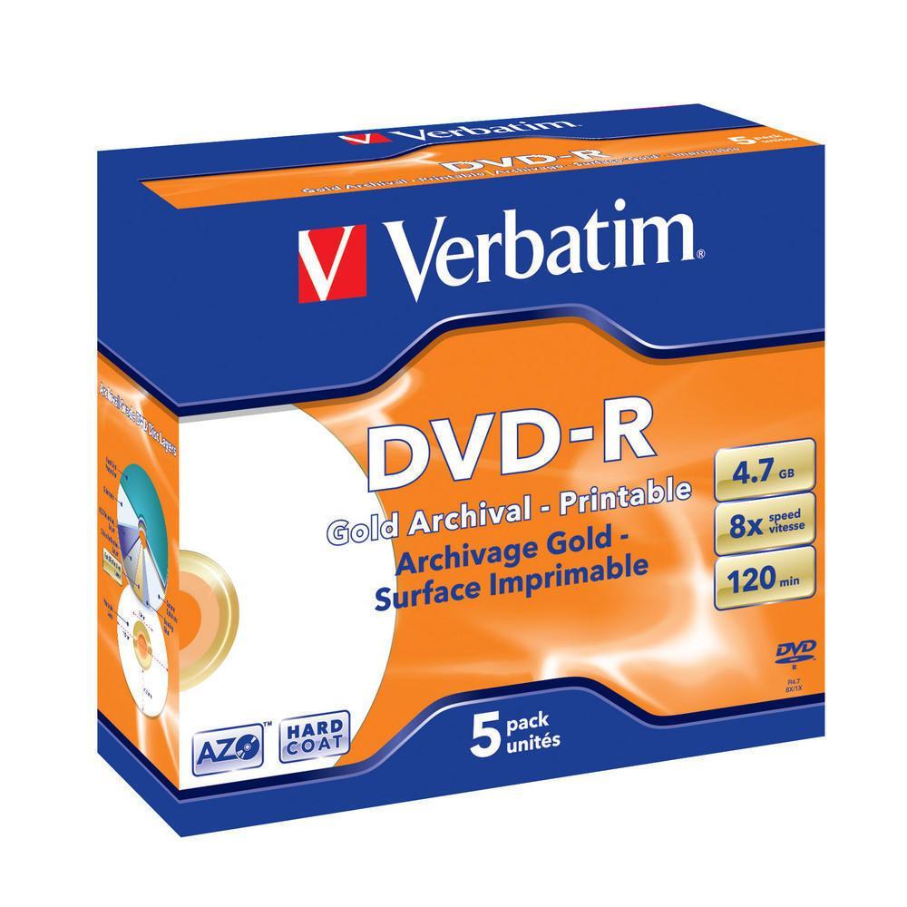 DVD-R  4.7GB Archival Printable Verbatim