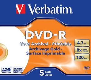 DVD-R  4.7GB Archival Printable Verbatim, фото 2