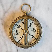 Медный компас с плавающей стрелкой  Floating Brass Compass