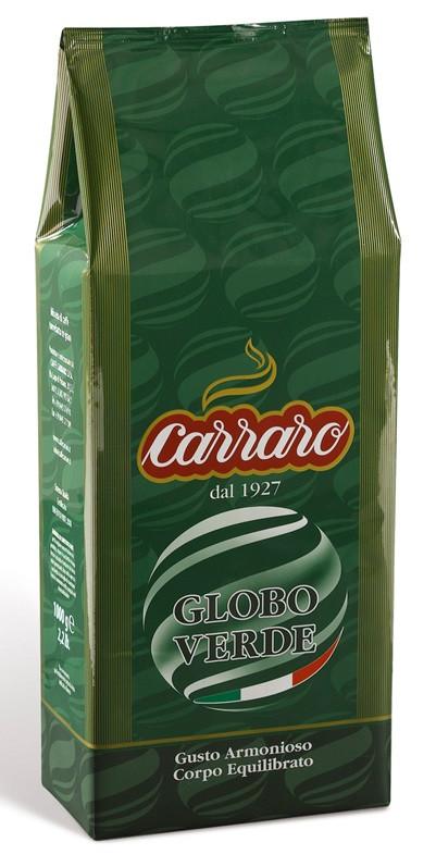 """Carraro """"Globo Verde"""", кофе в зернах"""