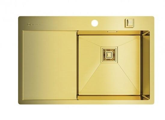Кухонная мойка Omoikiri Akisame 78-LG-R (4993086) нерж сталь 45 см