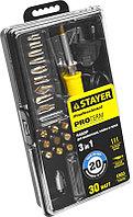 """Прибор для выжигания STAYER """"PROFESSIONAL"""", 3в1, с набором насадок 20шт"""