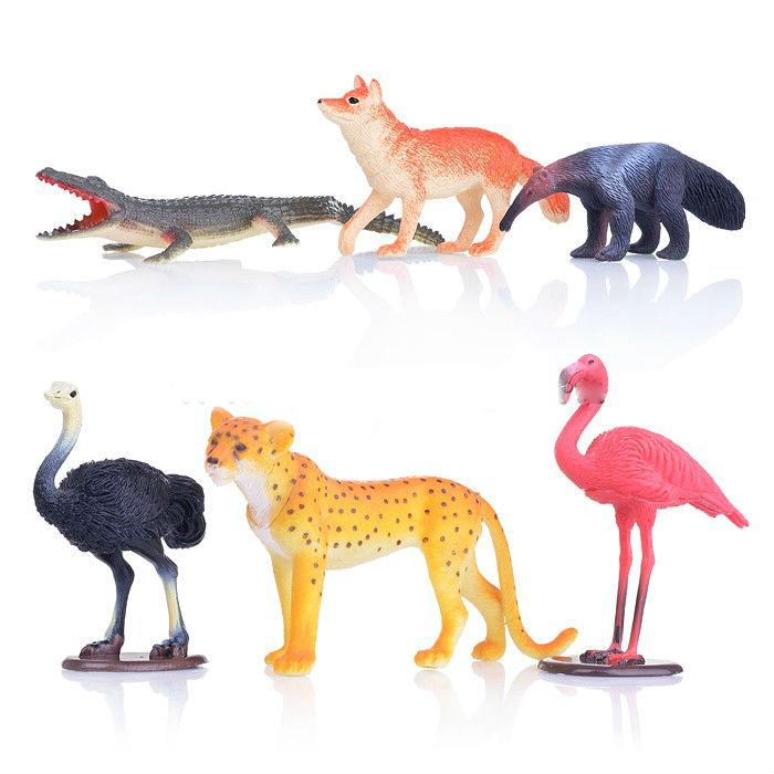 Набор из 6-и животных Северной Америки в пакете