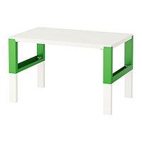 Письменный стол ПОЛЬ белый, зеленый 96x58 см IKEA, ИКЕА, фото 1
