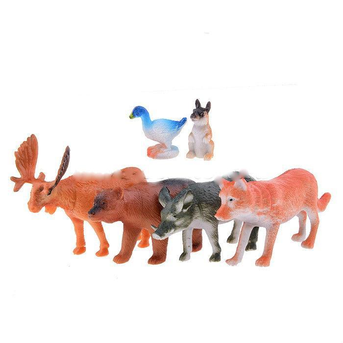 Набор из 6-и Лесных  животных, в пакете