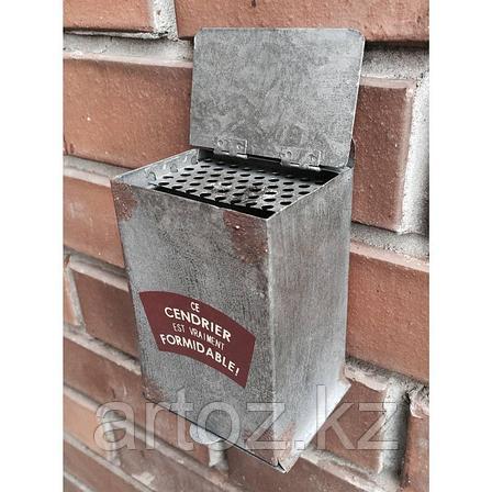 Пепельница, серый металл  Ashtray Grey Metal, фото 2