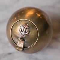 Пепельница с якорем  Ashtray With Anchor Brass Finish