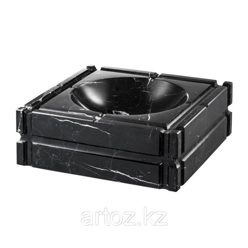 Чёрная мраморная пепельница Нестор  Ashtray Nestor, Black Marble