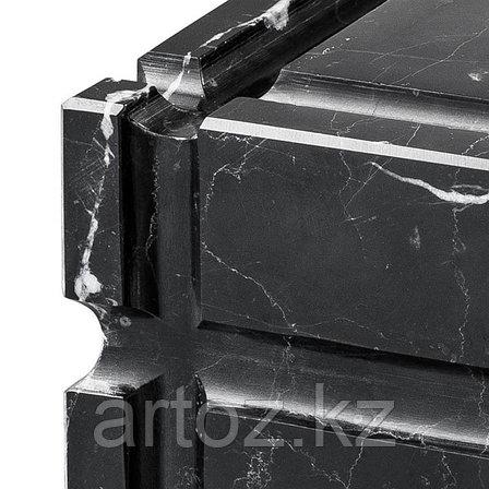 Чёрная мраморная пепельница Нестор  Ashtray Nestor, Black Marble, фото 2