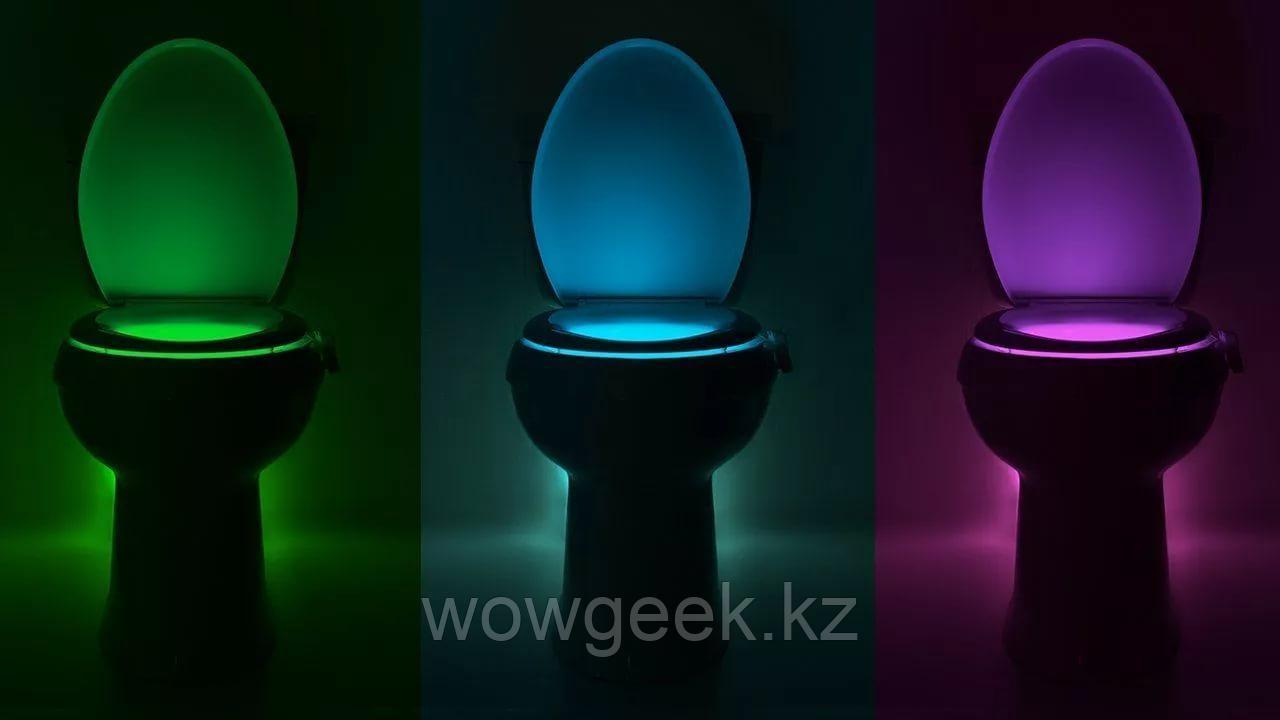 Подсветка для унитаза с датчиком движения LIGHT BOWL (8 цветов)