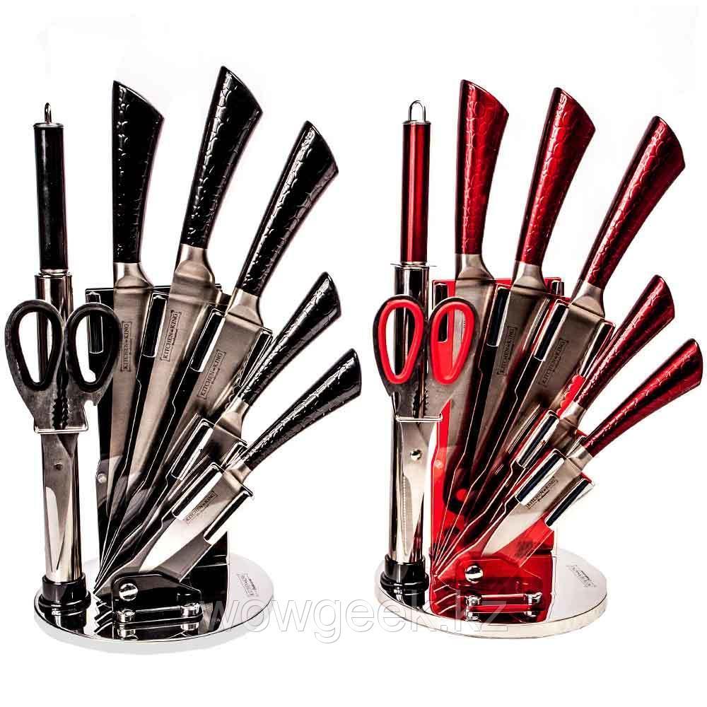 Набор ножей из нержавеющей стали на подставке KITCHEN KING (8 предметов)