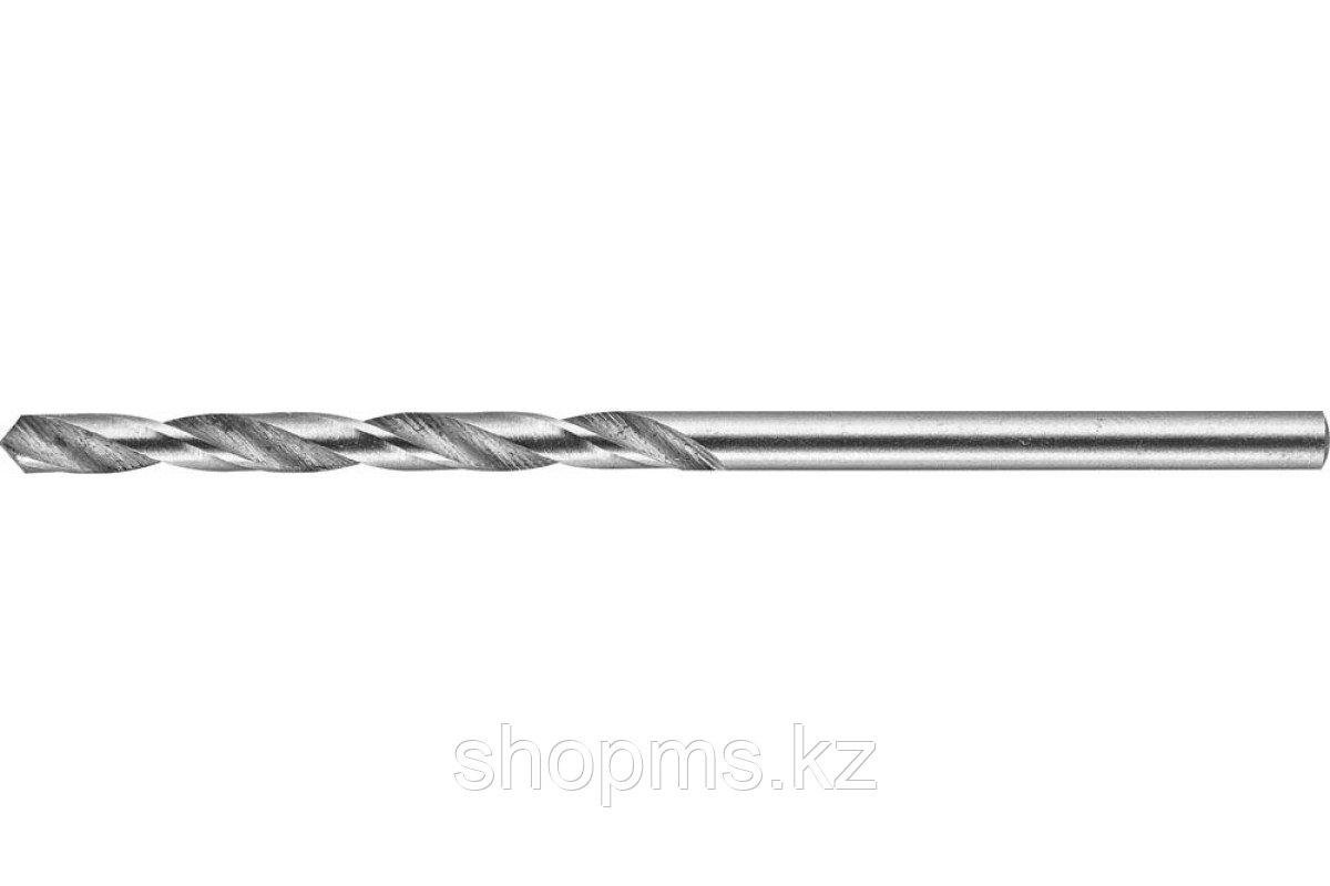 """Сверло ЗУБР """"ЭКСПЕРТ"""" 4,2х75мм по металлу, цилиндрический хвостовик, быстрорежущая сталь Р6М5,"""