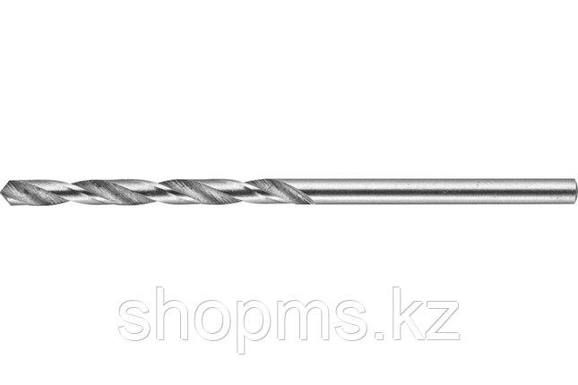 """Сверло ЗУБР """"ЭКСПЕРТ"""" 4,2х75мм по металлу, цилиндрический хвостовик, быстрорежущая сталь Р6М5, , фото 2"""