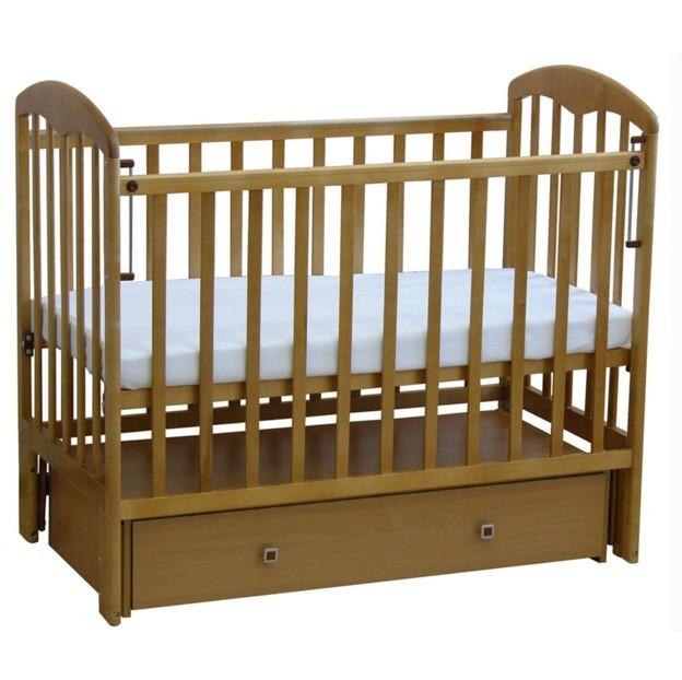 """Кровать детская Фея """"328"""", (медовый), состав - дерево (береза), Маятник универсальный, ящик, """"Кнопка"""""""