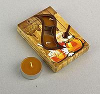 Свечи чайные ароматизированные 12 г (набор 6 шт.), мед