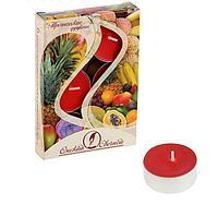 Свечи чайные ароматизированные 12 г (6 шт.), тропические фрукты