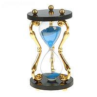 Часы песочные,витые ножки золото 3шт, микс 17см, фото 1