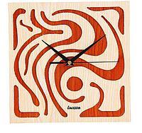 """Часы настенные квадратные """"Серия Дерево. Орнамент"""", 25,5 × 25,5 см, фото 1"""