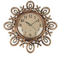 """Часы настенные """"Лепнина"""", завитки, бронза 30*3*30 см, фото 1"""
