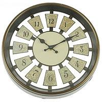 Часы настенные серия Цифры, круг, цифры по кайме, рама кофейная, цифры кофейные d=30см, 30*5см 230, фото 1