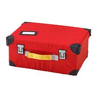 Чемодан для игрушек ФЛЮТТБАР красный ИКЕА, IKEA, фото 1