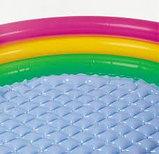 Детский бассейн с надувным дном Радуга 147х33см intex, фото 3