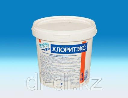 Хлоритэкс 1кг, гранулированный препарат для текущей и ударной дезинфекции воды