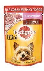 Pedigree Педегри Mini Влажный корм для взрослых собак мелких пород с ягненком в соусе, пауч 85г