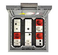 Лючок GES9-3S U (универсальный) 12xModul45 (полиамид, серый) GES9-3S U 7011