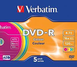 DVD-R  4.7GB Color Verbatim