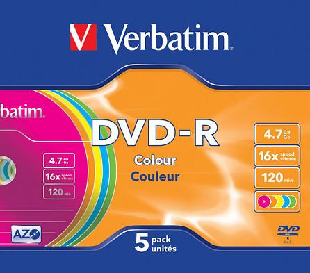 DVD-R  4.7GB Color Verbatim, фото 2