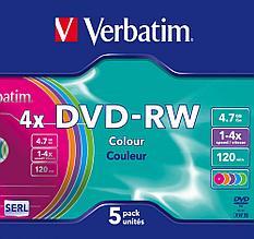 DVD-RW  4X 4.7GB Verbatim