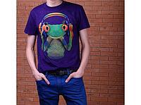 Футболка мужская Collorista 3D Frog, размер S/ M / L, цвет фиолетовый