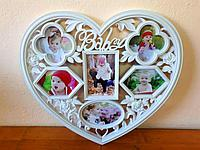 """Фоторамка в форме сердца """"Baby"""", на 6 фото, фото 1"""