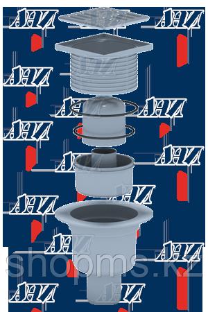 ТА5702 Трап вертикальный АНИ 50 н/ж решетка 10*10