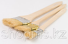 """Кисть радиаторная 2,5"""", натуральная щетина, деревянная ручка// MATRIX"""