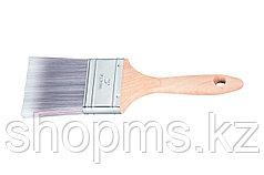 """Кисть плоская Platinum 1"""", искусственная щетина, деревянная ручка / MATRIX"""