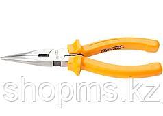 Длинногубцы Classic, 200 мм, прямые шлифованные, пластмассовые рукоятки//  SPARTA