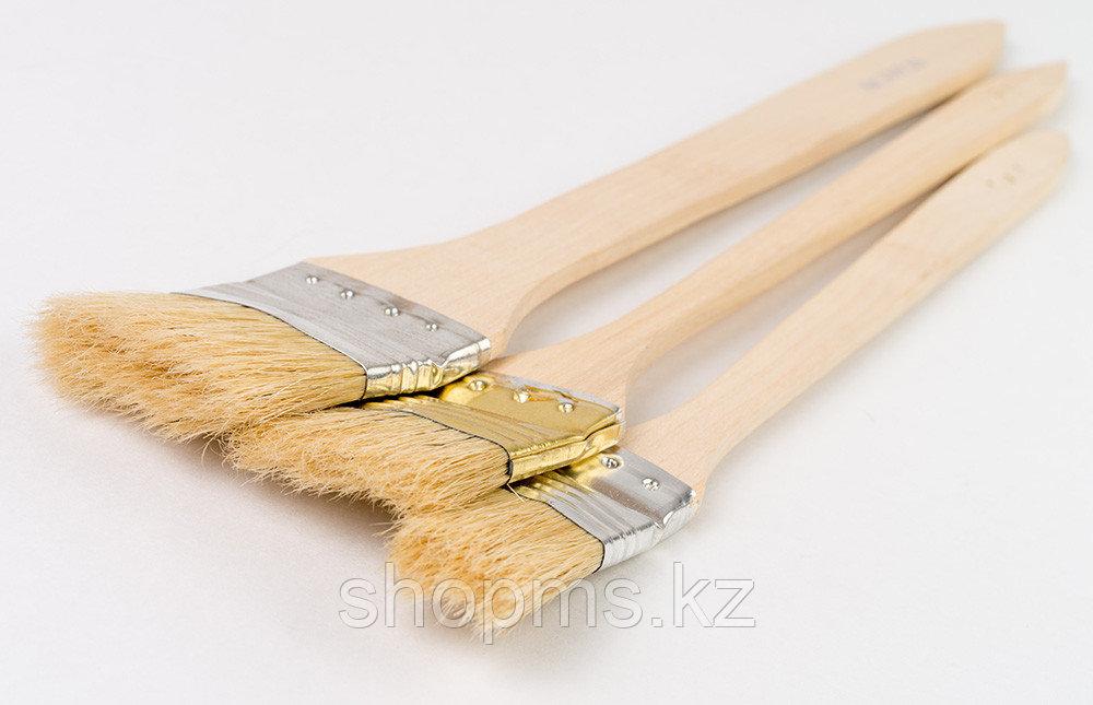 """Кисть радиаторная 2"""", натуральная щетина, деревянная ручка// MATRIX"""