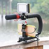 Стабилизатор для профессиональной съемки Ручка Рог для фотокамеры Canon Sony Nikon, фото 3