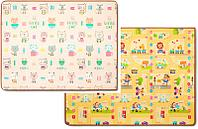 Игровой двусторонний коврик Парклон Котики+Веселый город 200*150*1см