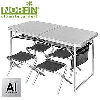 Стол + 4 стула NORFIN Мод. RUNN (120х60х70)(7,6кг.) R 15252