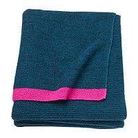 Плед ЛИЗАМАРИ синий, розовый ИКЕА, IKEA