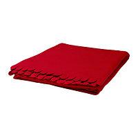 Плед ПОЛАРВИДЕ красный ИКЕА IKEA, фото 1
