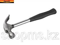 Молоток-гвоздодер, 450 г, боек 27 мм, металлическая трубчатая обрезиненная ручка// SPARTA