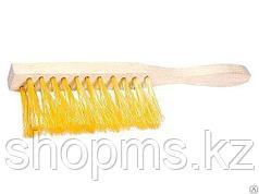 Щетка-сметка 3-рядная, 320 мм, деревянная ручка// Россия