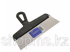 Шпатель фасадный из нержавеющей стали, 250 мм, пластмассовая ручка // СИБРТЕХ