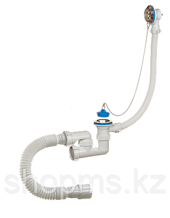 Сифон ОРИО А-80089 д/ванны регул,с перелив,гиб.тр, фото 2